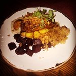 pork fillet with sauerkraut, potatoes (not quite medieval, I guess) and red beet