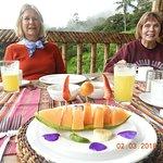 First course at breakfast at San Jorge Eco-Lodge at Tandayapa.