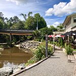 Matakana Market Kitchen on Right Overlooking River
