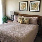 Very comfortable bed. Access to balcony from bedroom. Loved it. Unit 1220