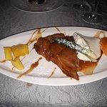 Cheesse with honey and fig marmalade; tarte Tatin
