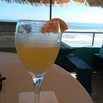 Mimosa on the beach is a great way to greet the day!