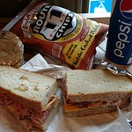 Power Lunch: roast beef sandwich, chips, fountain drink and cookie