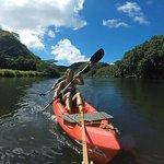 Paddling the beautiful Wailua River.