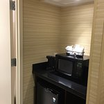 Refridgerator & Microwave in room, by BA.