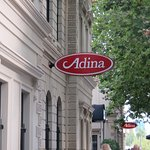 Outside the Adina Restaurant in the old Treasury Building Adelaide
