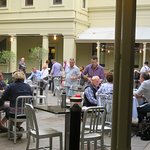 Inside Adina restaurant, situated in the courtyard behind the old Adelaide Treasury Building