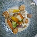 Saint Jacques et petits légumes