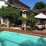 New pool area at Pousada do Sandi