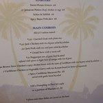Caribbean menu