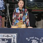 Tianlong Ancient Castle, wax painting shop owner