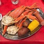 Snow crab cluster boil - so yummy!