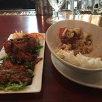 Korean Chicken and Tuna Poke bowl