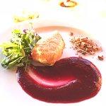 phyllo camembert, raspberry