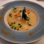 la soupe de Raboliot au foie gras etc...