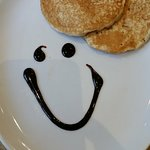 A smiley face, like the staff at this Holiday inn