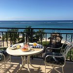 we couldn't imagine a better view while we ate breakfast on our balcony!