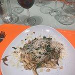 The pasta dish.