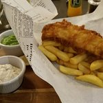 Fish and Chips at hotel's Signature Restaurant