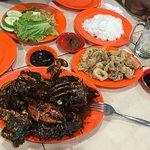 Dinenr: Curry Crab and Fried Calamari