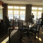 Slow to clear tables. Too many managers doing nothing but walking around Excellent breakfast