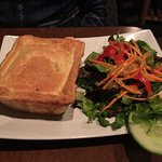 Voyaguer Tourtiere with house salad