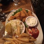Clam chowder and halibut and chips
