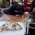 cerveza Anima y pizza