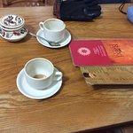 """Masala"" tea while waiting for the take-away order"