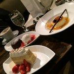 Flan good. The chocolate lava cake ok. The tres leche keylime curd cake had little keylime