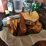 Duck confit club sandwich