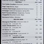 Wine menu in February