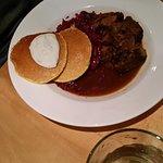 braised pork with johnny cakes