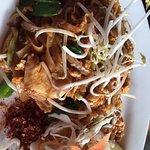 Chicken Pad Thai Noodles at Wild Rice Thai Cuisine