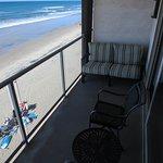 Nice patio with comforable seating