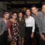 With the superb staff of Pablo Bistro. :)