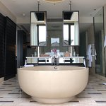 Amazing bathroom with the biggest tub we've seen!