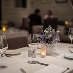 Simple table setting at Romeo's