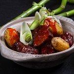 Braised Beef short ribs, baby Potato and Zhu Hou Sauce