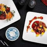 Wok-fried Foie Gras, Black Pepper and fresh Mango