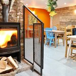 Our log burner keeps our customers cosy whilst they enjoy their home cooked food.