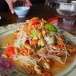 Seafood Papaya Salad (150.-)