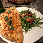 Calzone was good