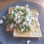 Avocado and feta on toast