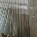 Pool Villa Room - mosquito net at night