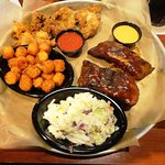 Shrimp Chicken Ribs platter