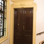 the entrance door from the outside
