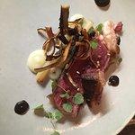 Aberdeen Angus steak, salsify, buckwheat, olive puree, veal veloute