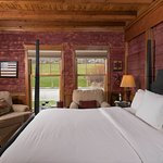 A classic lodge room at Mountain Top Resort