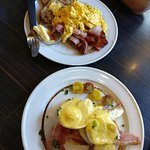 Bacon and Eggs on Toast and Eggs Benedict